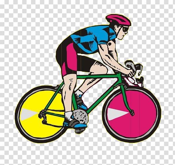 Racing bicycle Cycling , Cartoon mountain bike race.