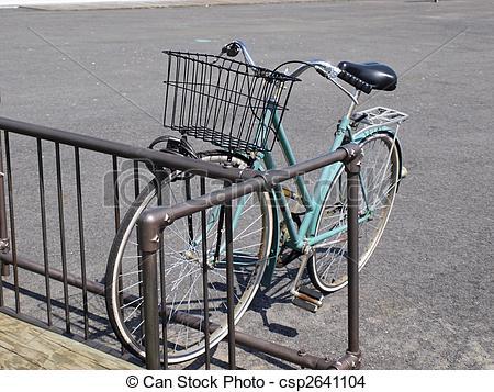 Stock Photo of bike in rack.