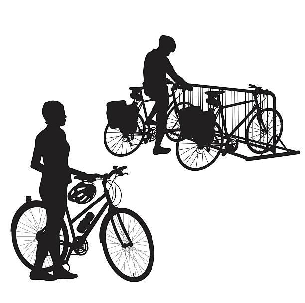 Bike Rack Clip Art, Vector Images & Illustrations.