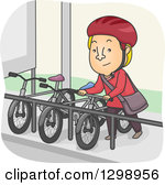 Bicycle rack clipart.