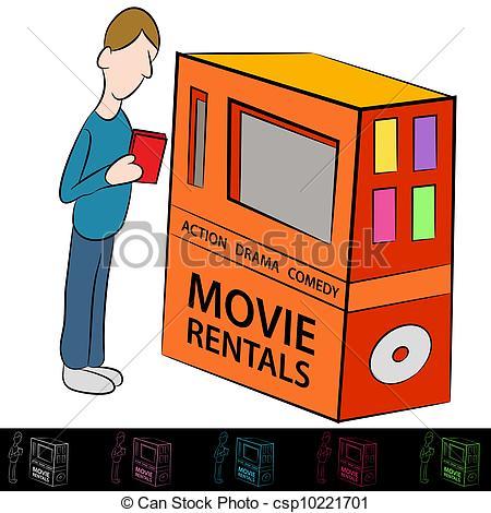 Movie Rental Clipart.