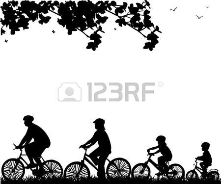 3,720 Family Bike Stock Illustrations, Cliparts And Royalty Free.