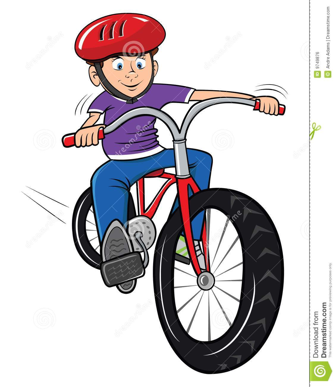 Riding bikes clipart.