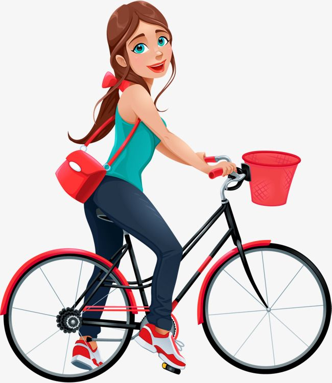 Young Girls Riding Bikes, Bicycle, Ride A Bike, Sharing Bikes PNG.