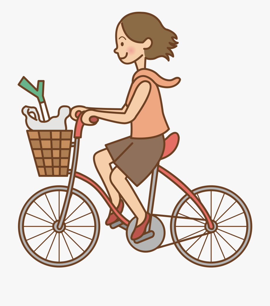 This Free Icons Png Design Of Woman Riding A Bicycle.