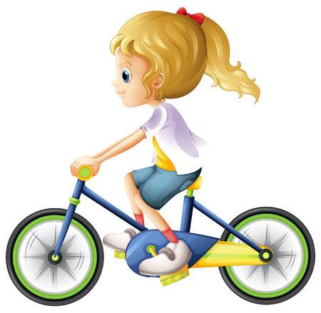 1,805 Girl Riding Bike Stock Illustrations, Cliparts And Royalty.