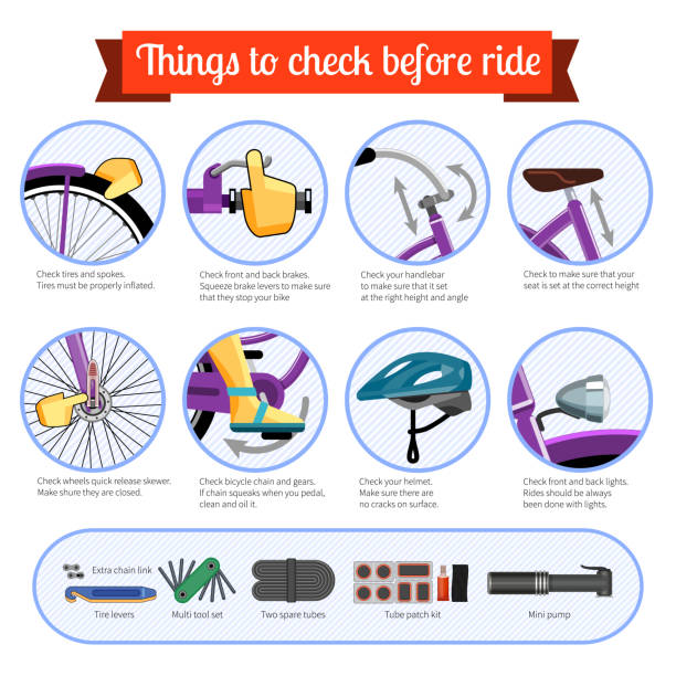 Best Bicycle Safety Illustrations, Royalty.