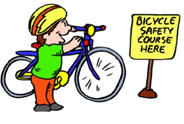 Clipart bike safety.