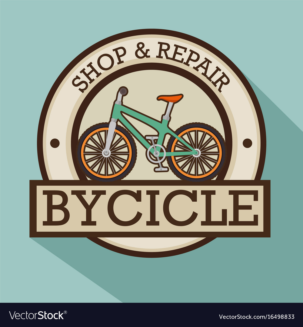 Modern bike shop logo.