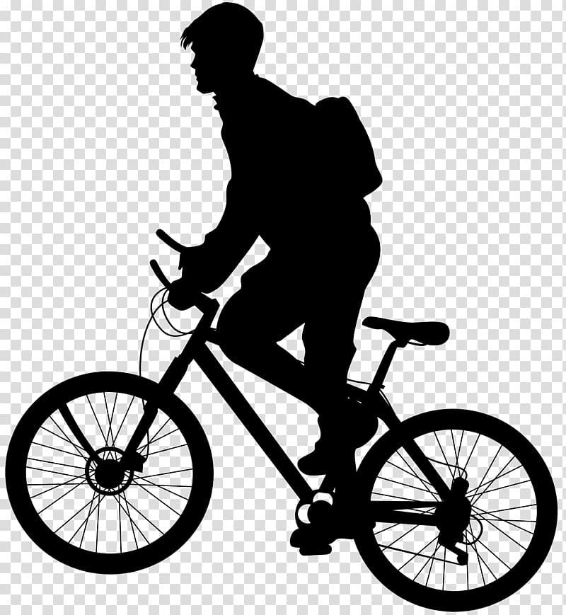 Bicycle Cycling Silhouette Mountain bike, Bicycle.