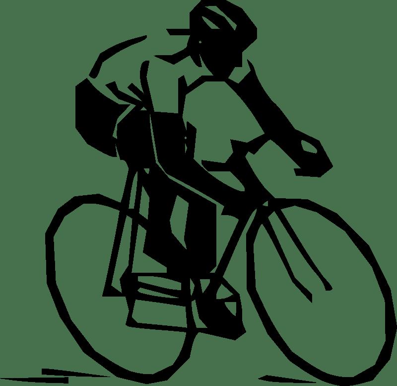 Cyclist Silhouette Clipart transparent PNG.