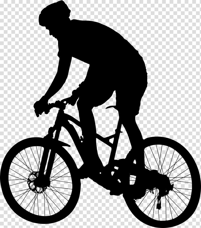 Cycling Bicycle Silhouette , cycling transparent background.