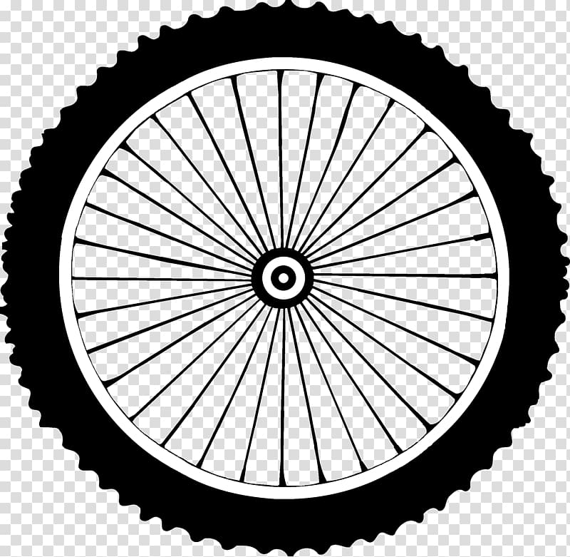 Motorcycle tire illustration, Bicycle Wheels Mountain bike.
