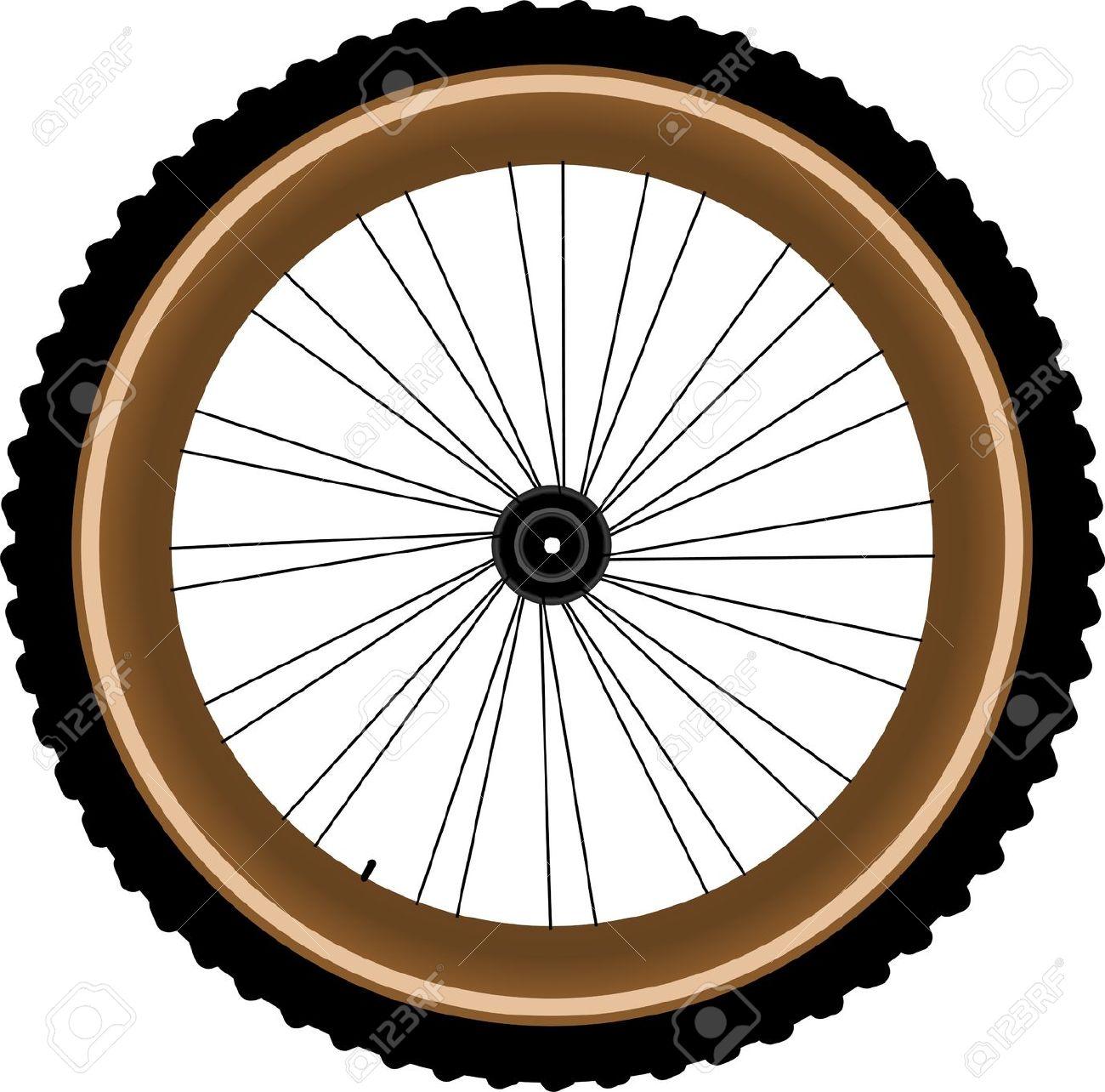 Mountain Bike Tire Clipart.