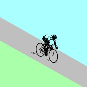 Bike trail clipart.