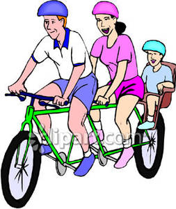 Bicycle ride clipart.