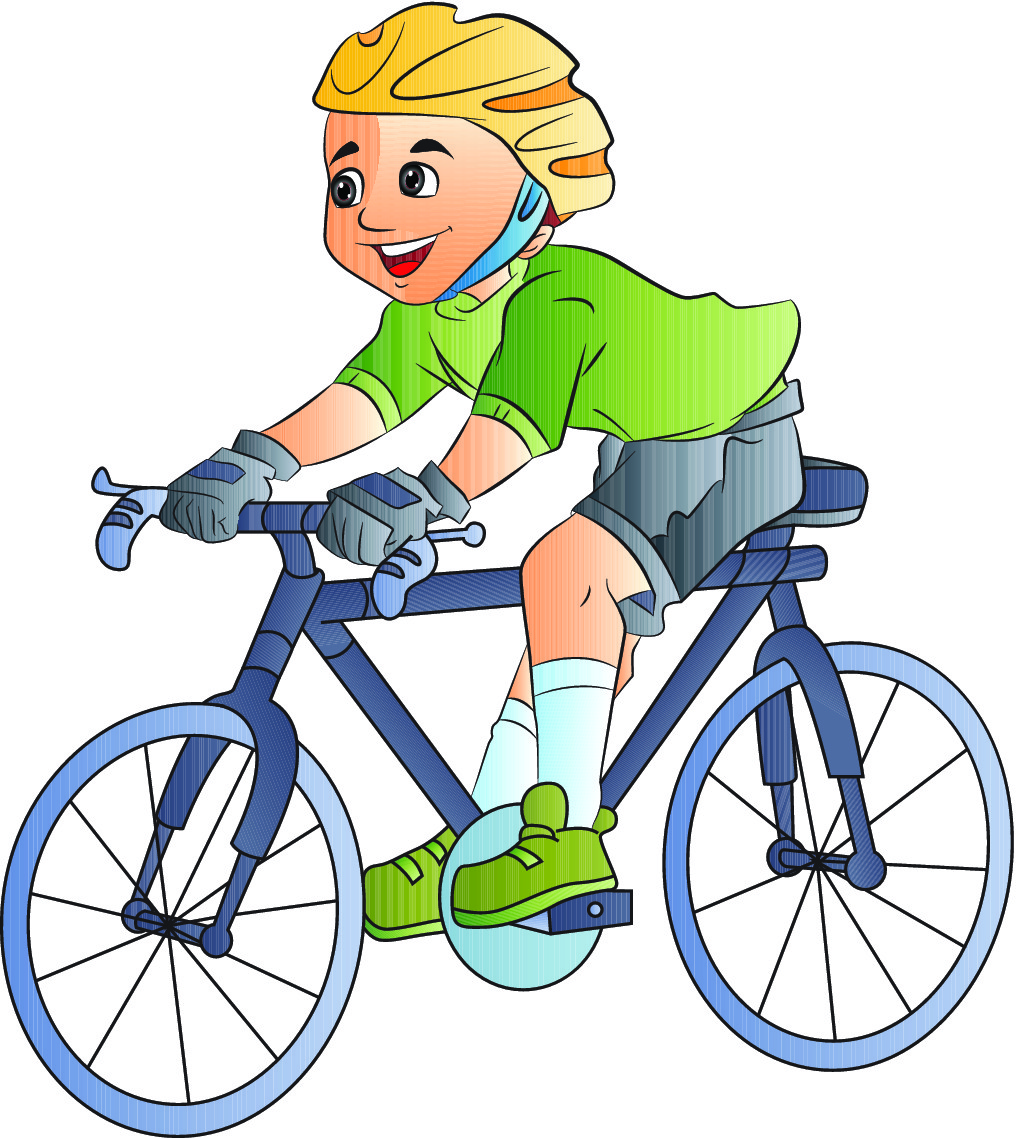 Learning To Ride A Bike Clipart.