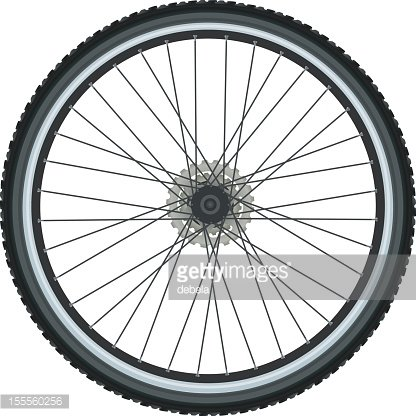 Bicycle tire Clipart Image.