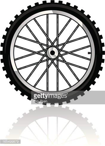 bike tire Clipart Image.