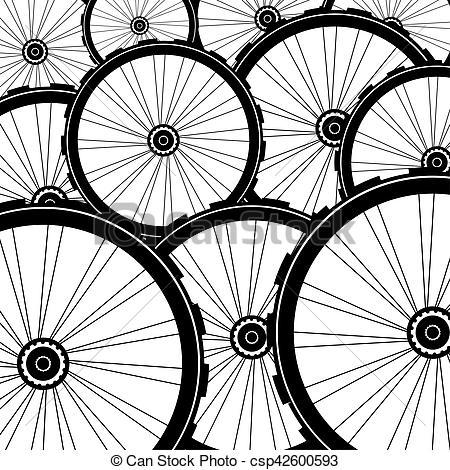 Bicycle wheel, bike wheels background pattern.