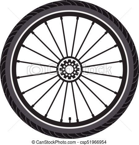 vector bicycle wheel.