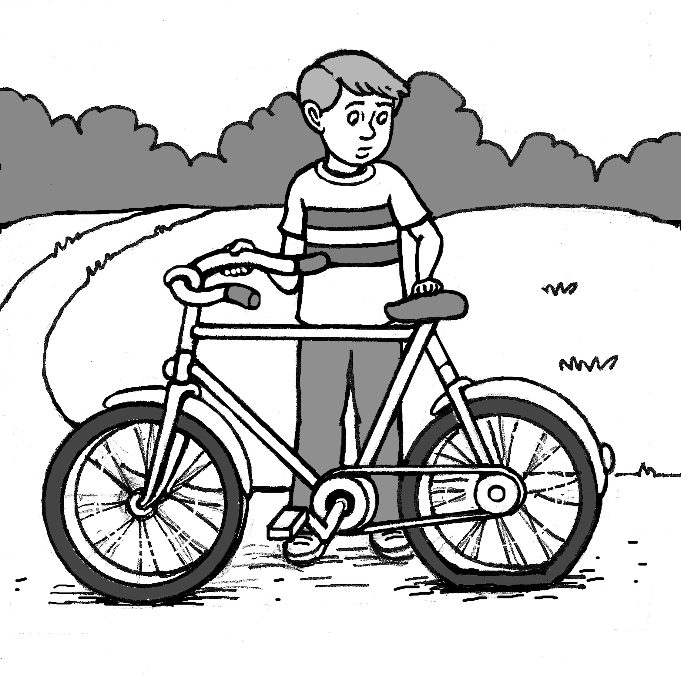 Flat Tire Clipart Black And White.