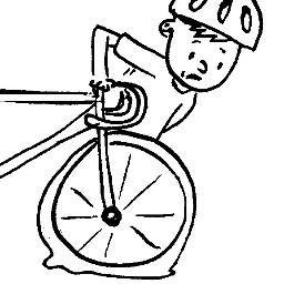 Flat Bike Tire Clipart.