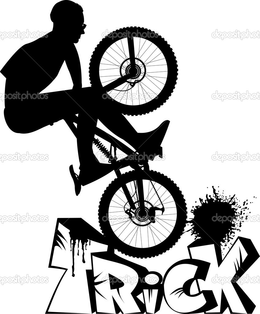 Bike extreme — Stock Vector © sababa66 #7435768.