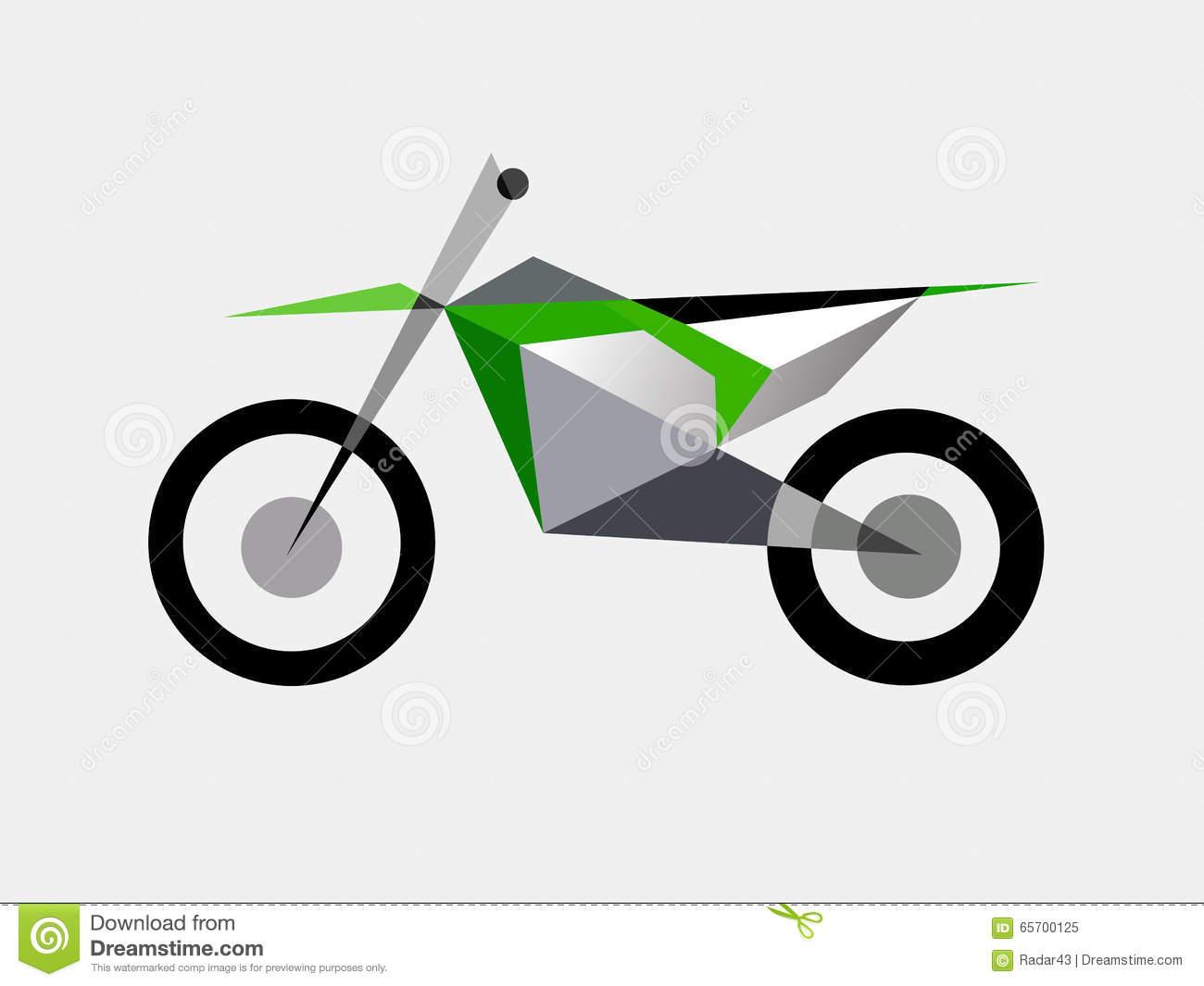 Motocross Bike Extreme Sport Stock Vector.