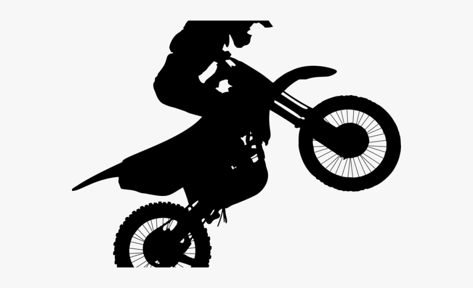 Biker Clipart Motorcycle Wheelie.