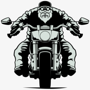 Biker Vector Motorcycle Clipart.