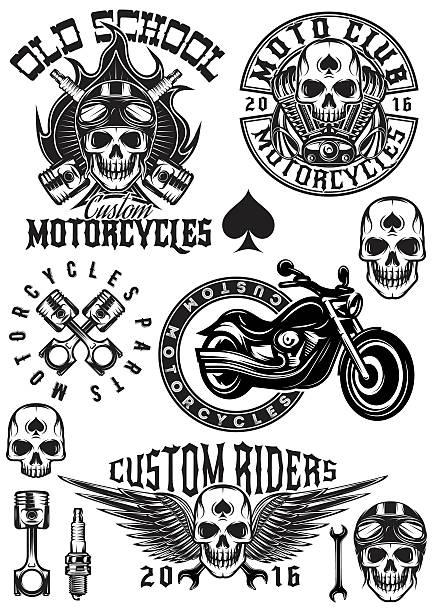 Best Motorcycle Biker Illustrations, Royalty.