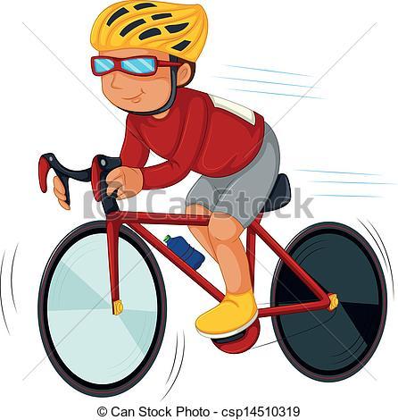 Biker clip art.