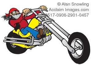 Cool Biker Clipart Illustration.