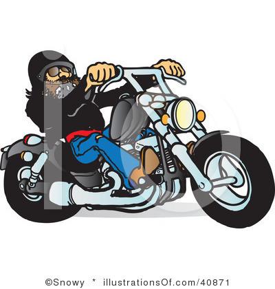 Biker Clip Art Page 1.