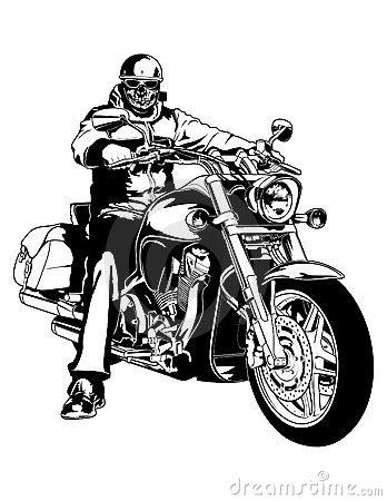 Biker clipart.