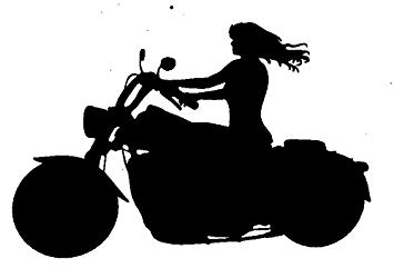 Motorcycle Girl Silhouette.