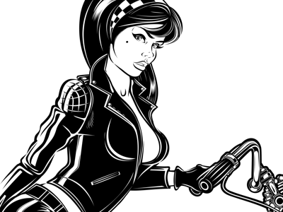 GIRL ON BIKE by David Vicente on Dribbble.