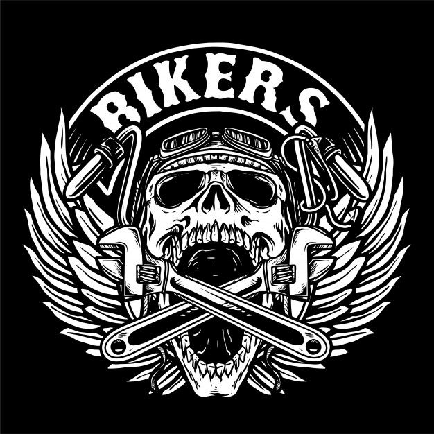 Bikers club logo Premium Vector in 2019.