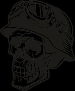 Biker Skull Logo Vector (.CDR) Free Download.