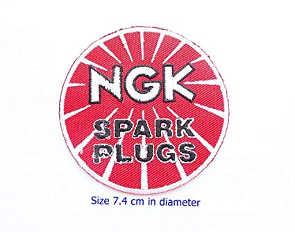 NGK Spark Plugs Car Moto Gp Motorcorss Racing Biker Logo Motorcycle Boots  Helmets Patch Sew Iron on Jacket Cap Vest Badge Sign.