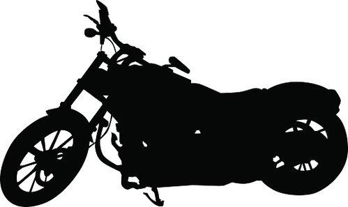 Big bike on white Clipart Image.