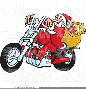 Biker Santa Clipart.