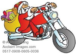 biker santa clipart & stock photography.