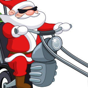 Santa Claus Motorcycle Stickers.