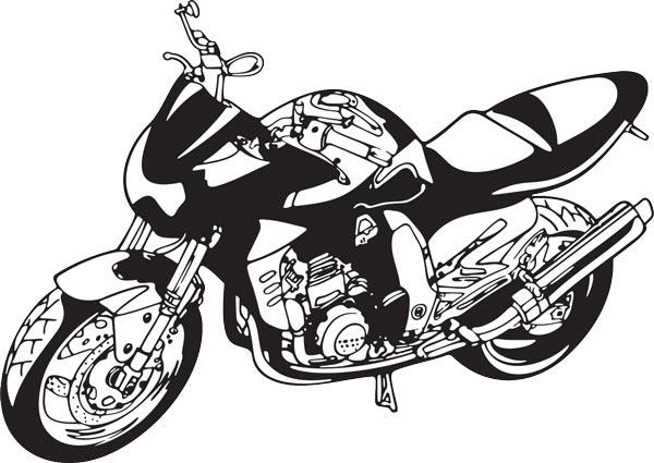 Bikers clipart vector shapes.