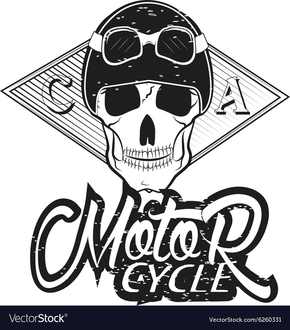 Set of vintage bikers logo.