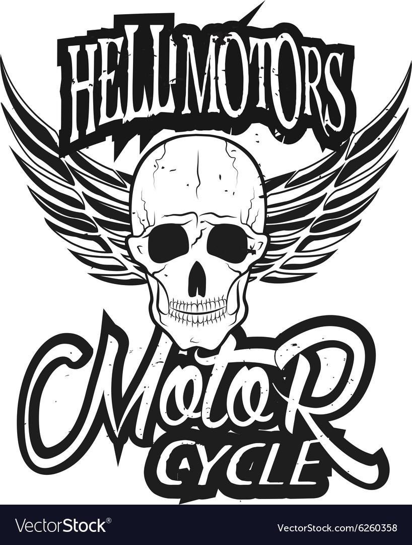 Set of vintage bikers logo Retro.