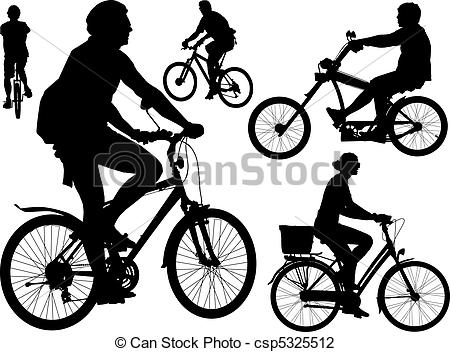 Vector Illustration of Bikers vector collection.