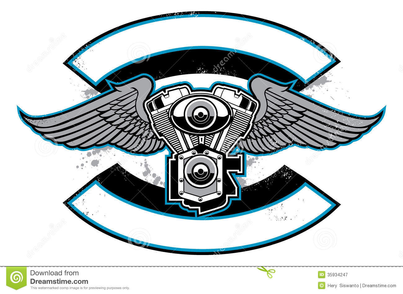 Motorcycle gang clipart.